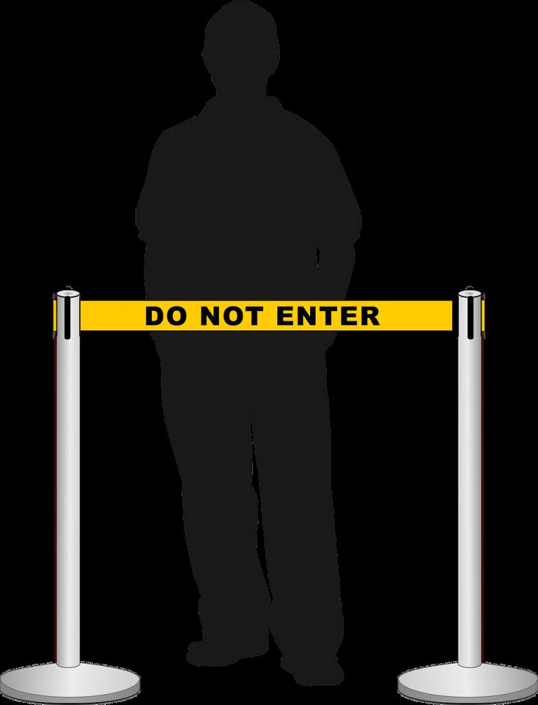 retractable belt stanchion, crowd, queue